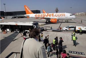 Easyjet en el Aeropuerto de Barcelona-El Prat