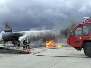Simulacro de emergencia en aeropuerto