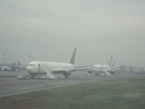 Neblina en aeropuerto