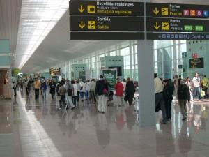 Pasajeros en el Aeropuerto de Barcelona-El-Prat